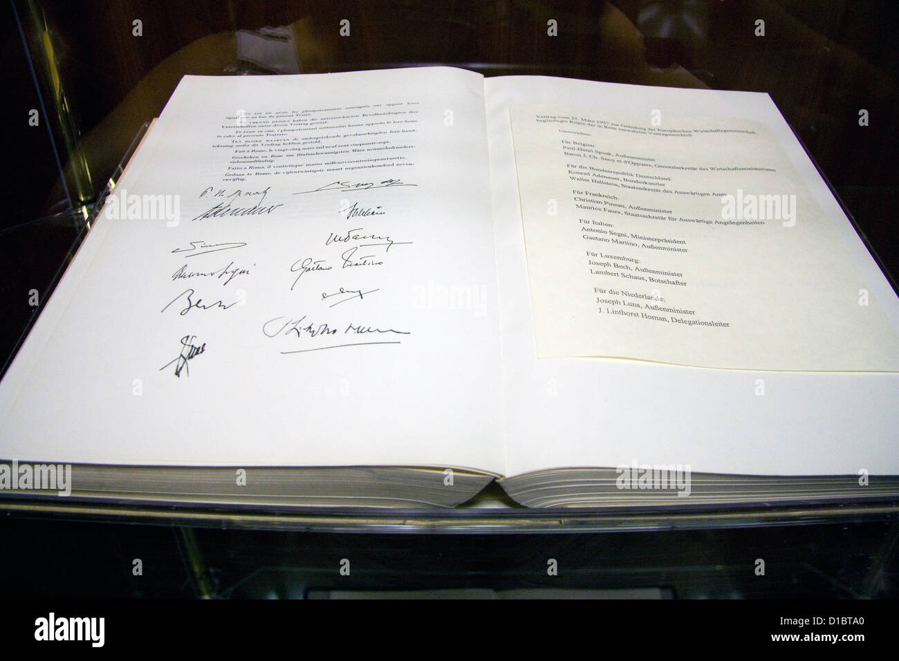 Berlin, Germany, the EC Treaty in the Foreign Office - Stock Image