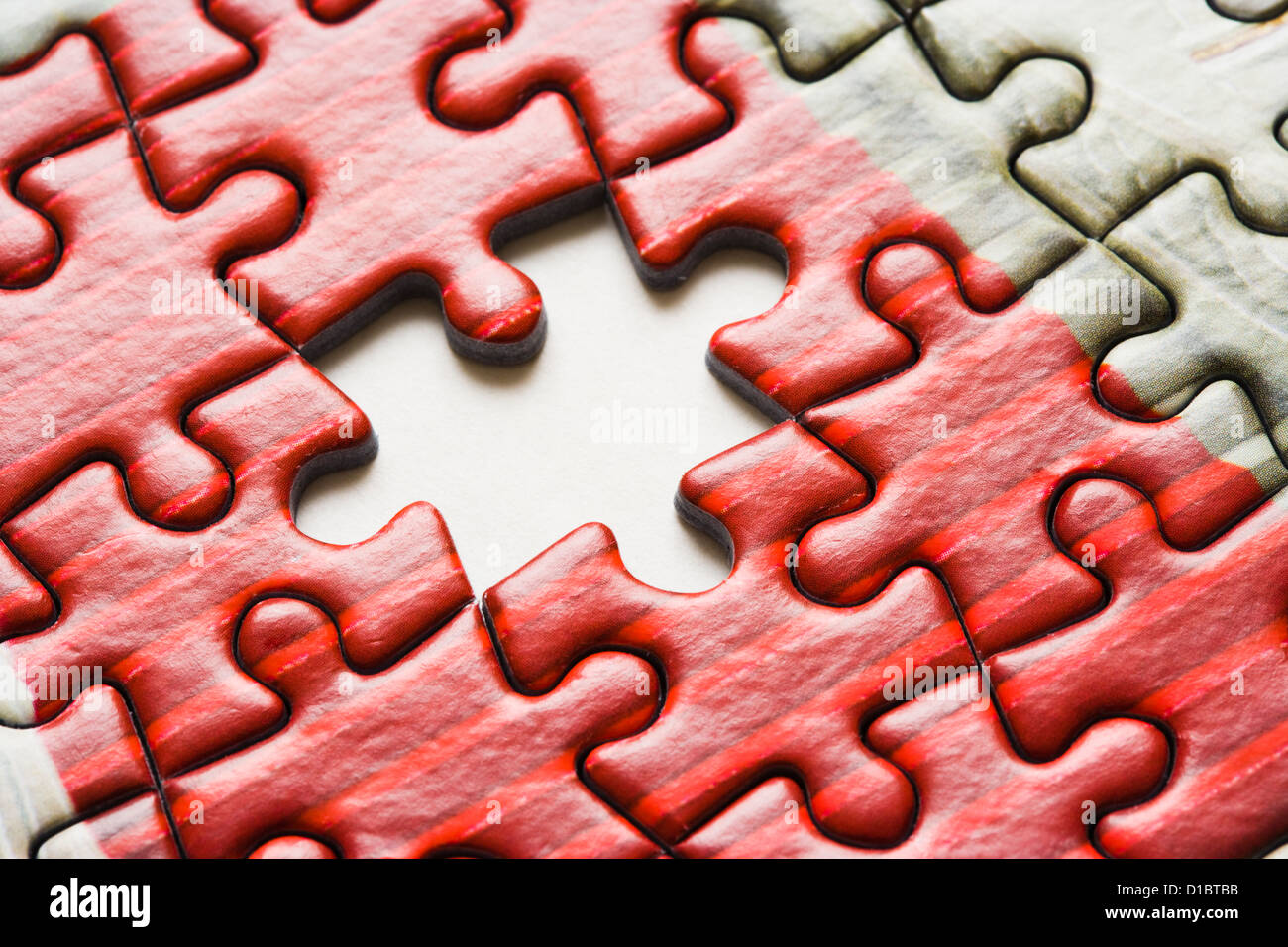Last piece of the jigsaw. - Stock Image