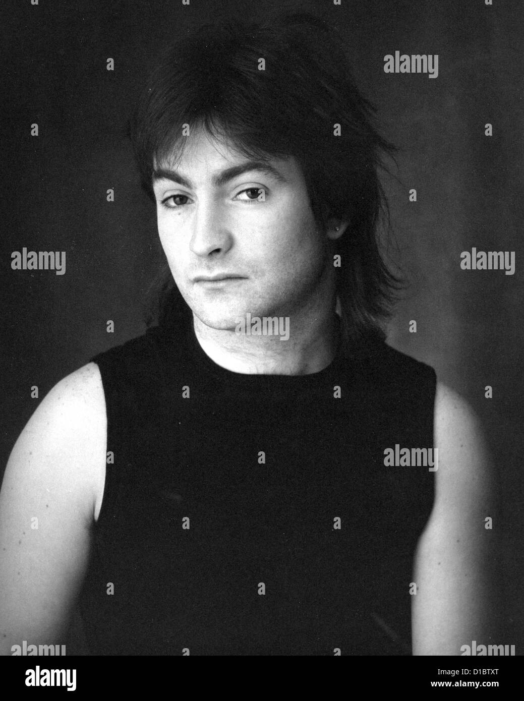 THE DAMNED Promotional photo of UK rock group member Bryn Merrick about 1990 - Stock Image