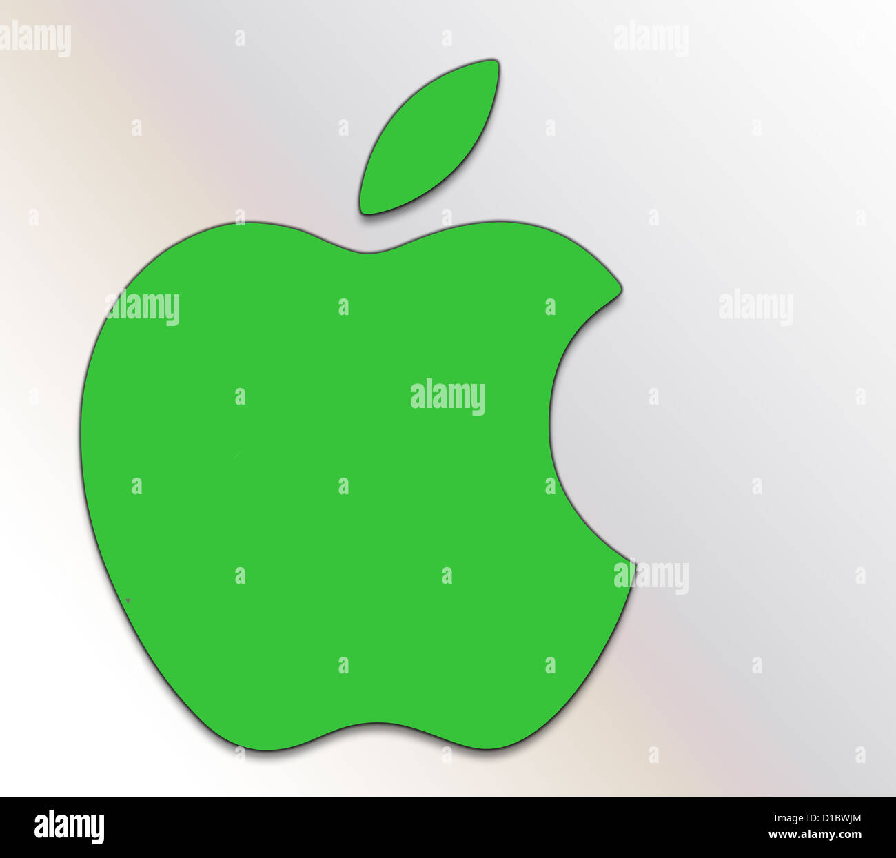 apple logo stock photos & apple logo stock images - alamy