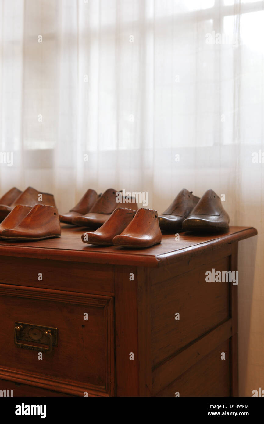 Shoe Makers Wooden Lasts Decorate Casa Silva Winery Hotel San Stock