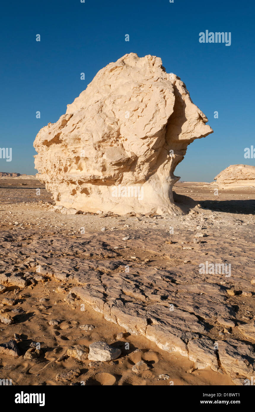 Chalk Rock Formations, White Desert (Sahara el Beyda), Egypt - Stock Image