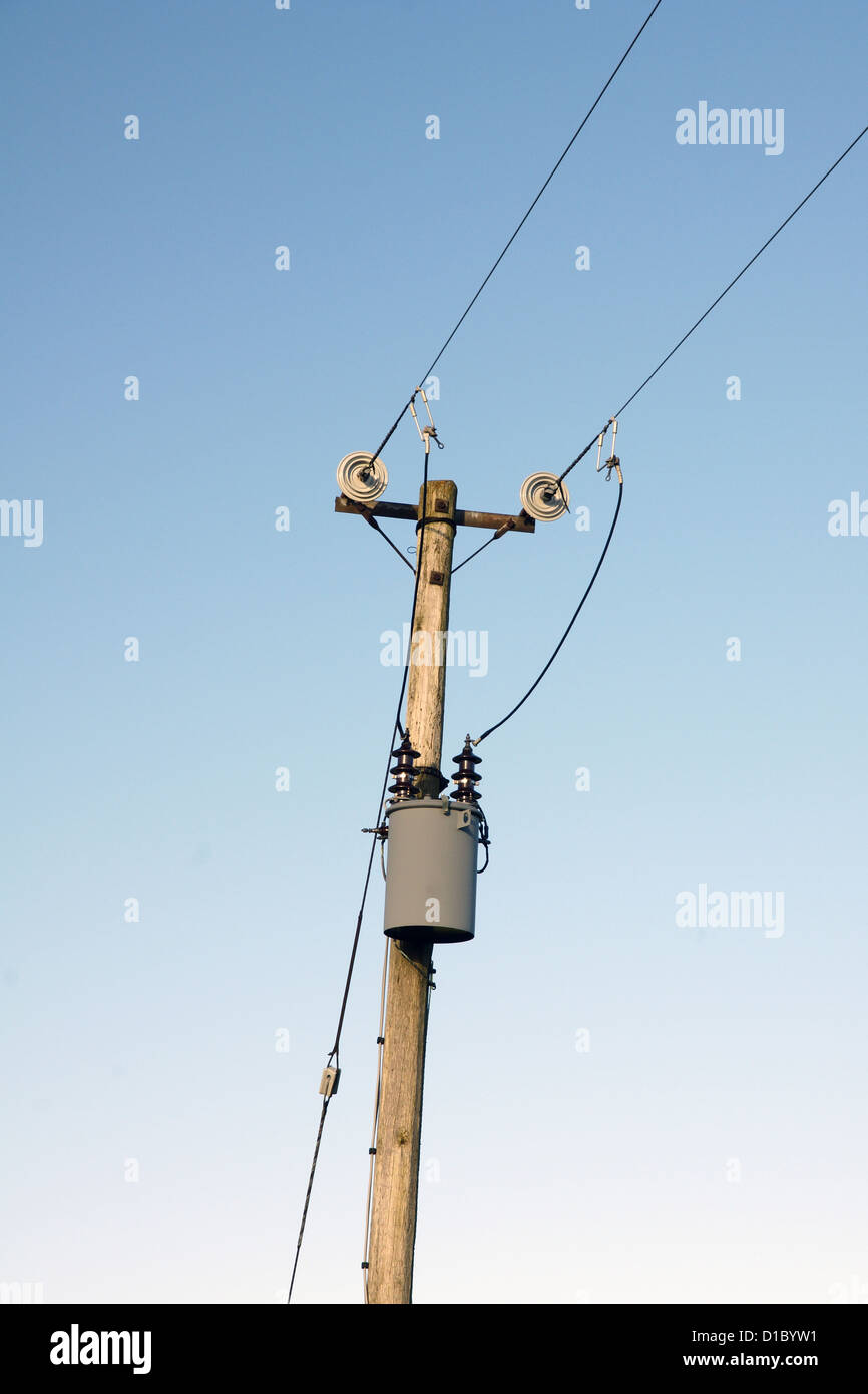 Low Voltage Transformer On A Power Pole Stock Photo 52509101 Alamy Electrical Wiring