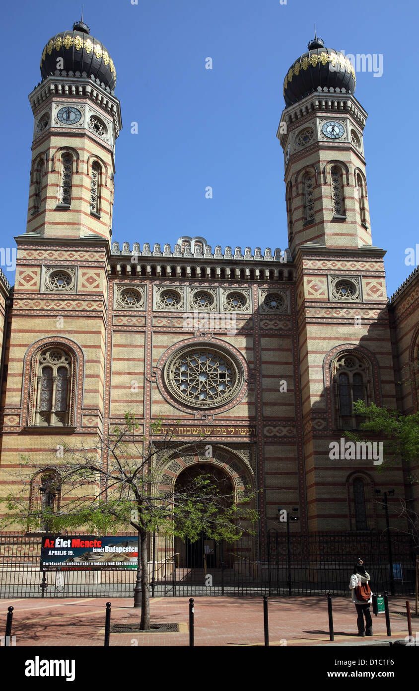 Budapest, Hungary, The Great Synagogue Stock Photo