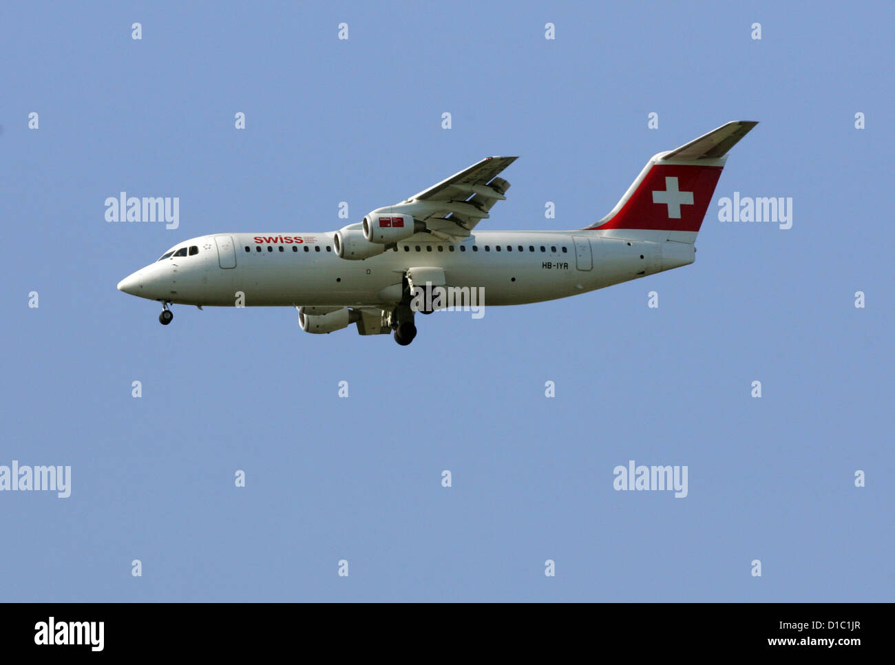 Hanover, Germany, the airline Swiss machine in the air - Stock Image
