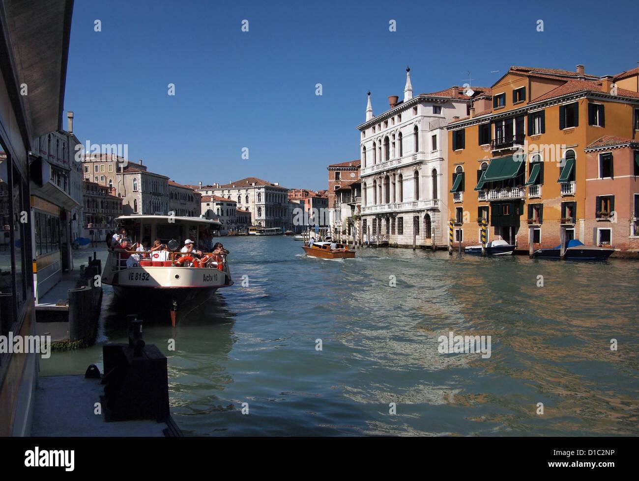 Venice - Academia vaporetto stop - Stock Image