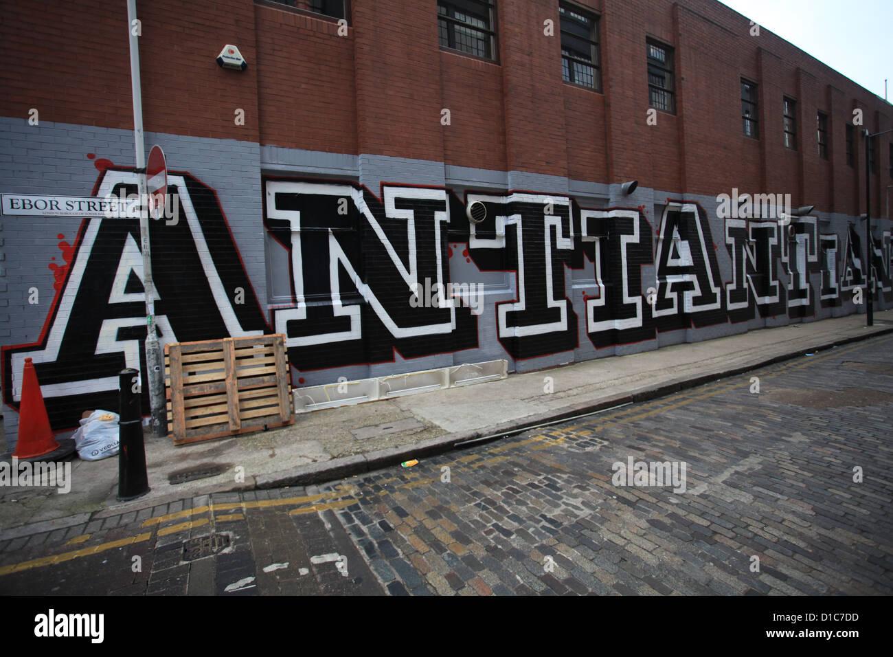 Graffiti artwork by Eine - Stock Image