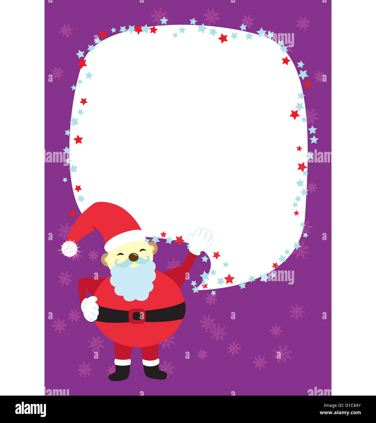 A template for christmas greeting card or gathering invitation with a template for christmas greeting card or gathering invitation with as santa clause sending the message stopboris Gallery