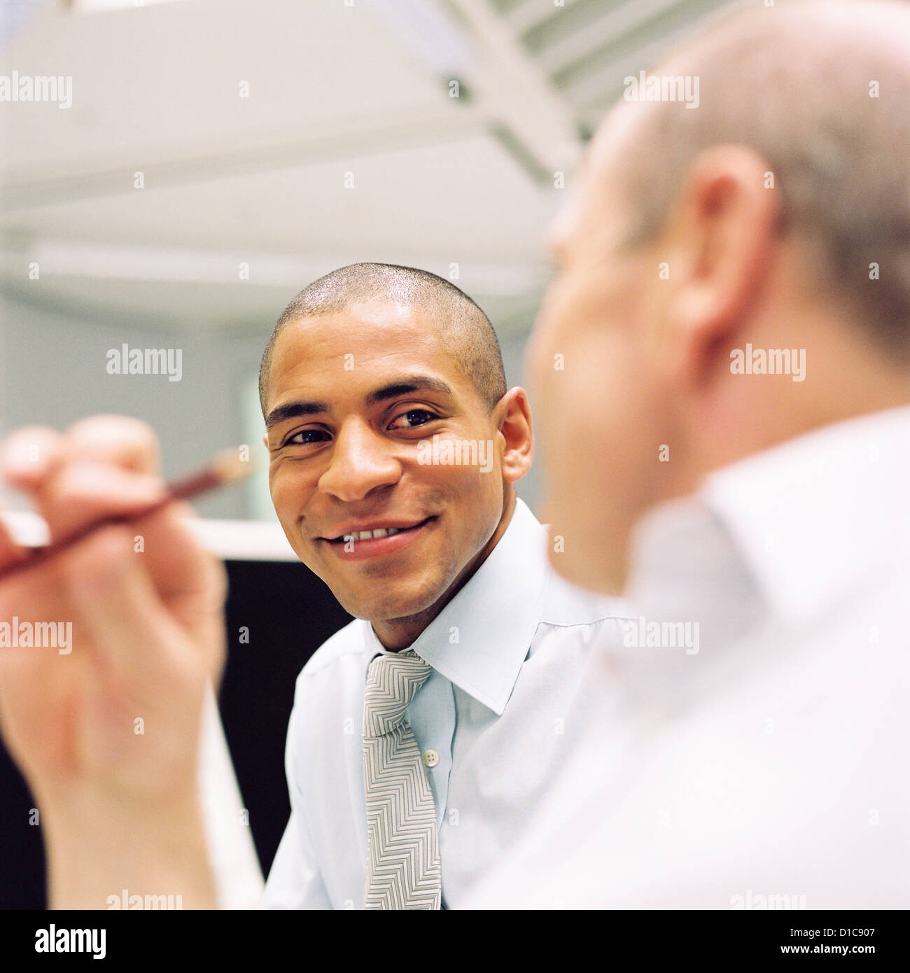 Business people data center control center man License free except ads and billboards - Stock Image