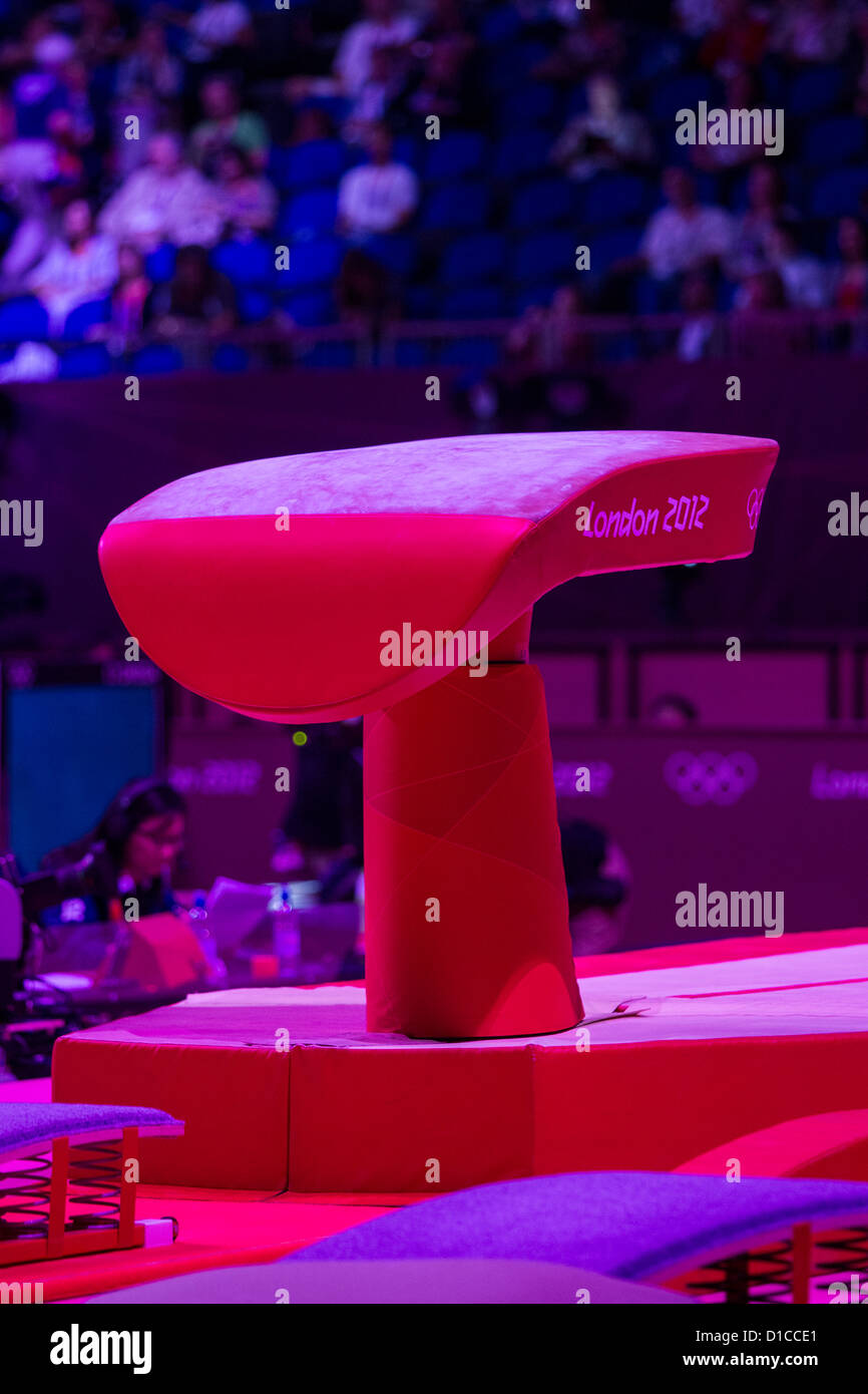 Vault at the Olympic Summer Games, London 2012 - Stock Image