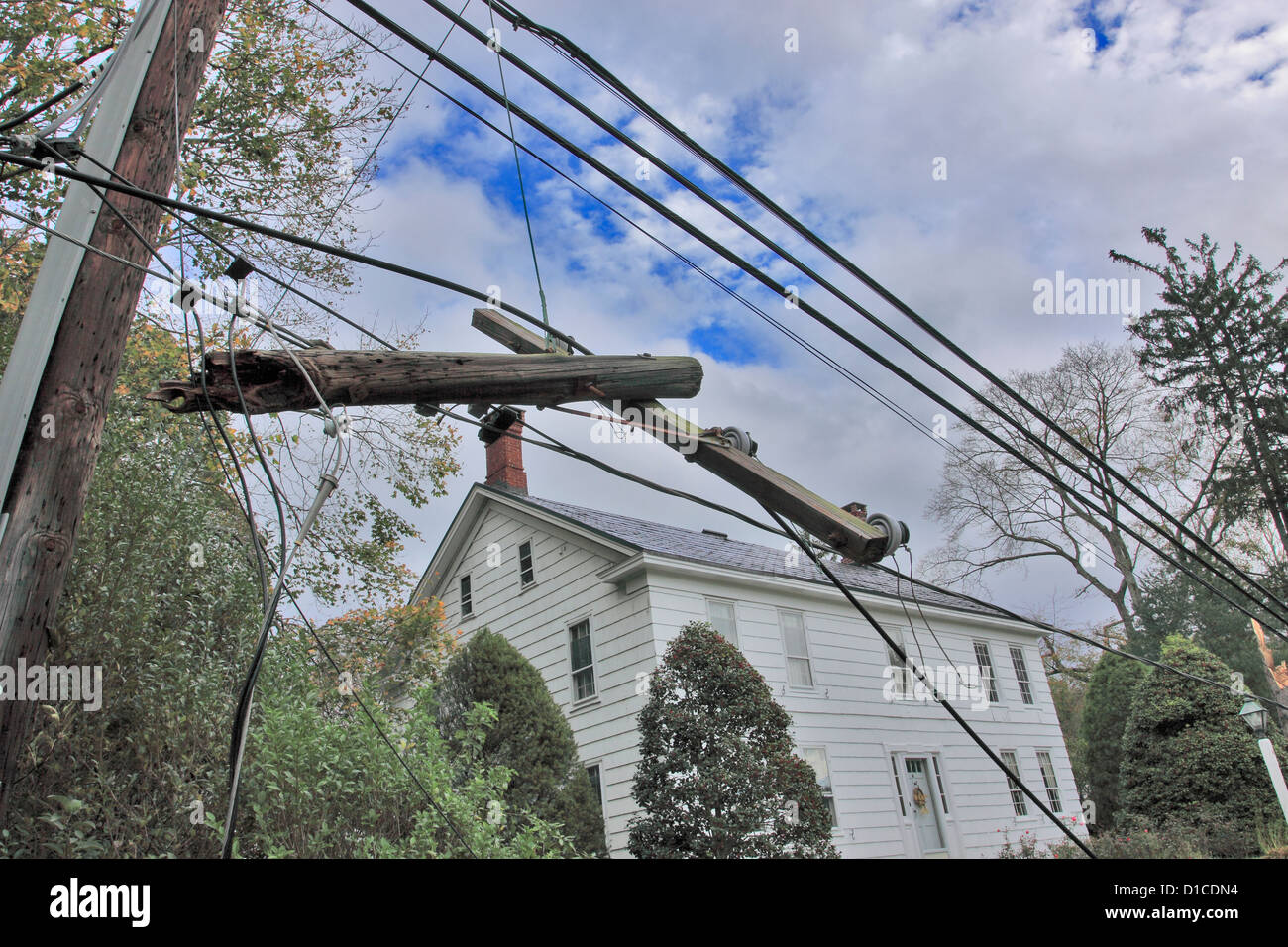 Hurricane Sandy storm damage Stony Brook Long Island NY