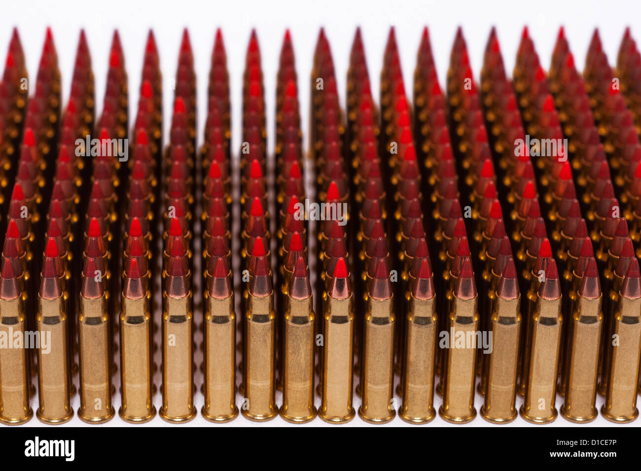 A selection of 17 GR. V-Max high velocity rifle bullets - Stock Image