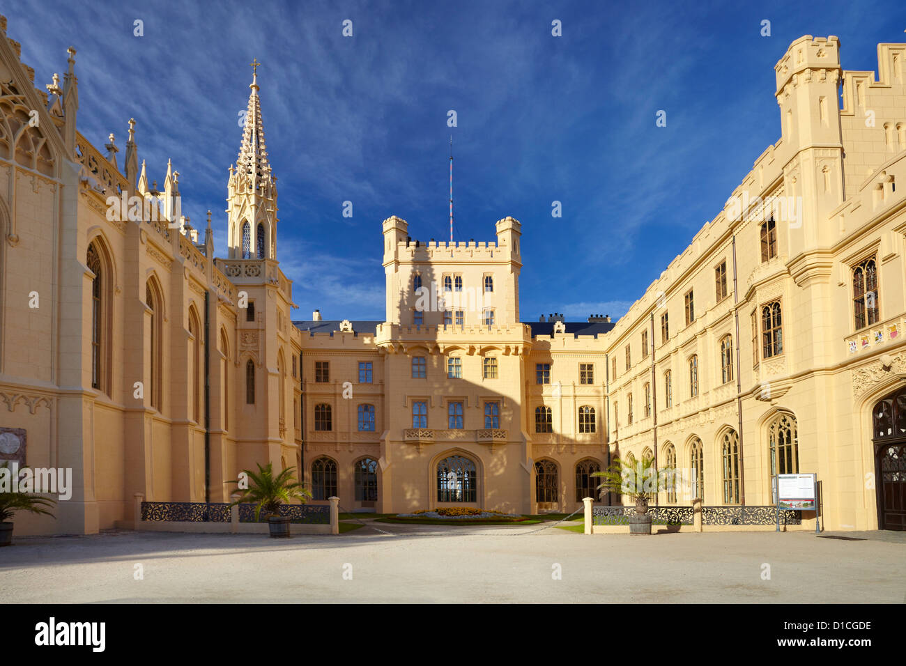 Lednice Castle, Czech Republic, Europe - Stock Image