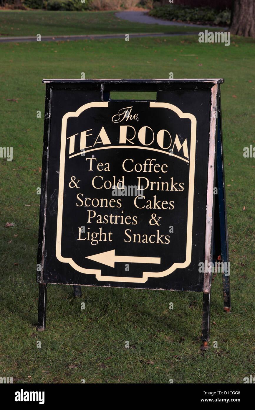 Directions to the Cusworth Hall Tea Room - Stock Image