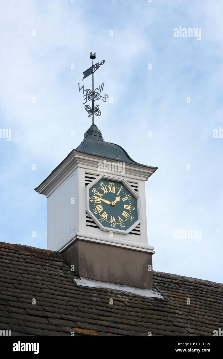 Cusworth Hall Clock on the roof of the Tea Room - Stock Image