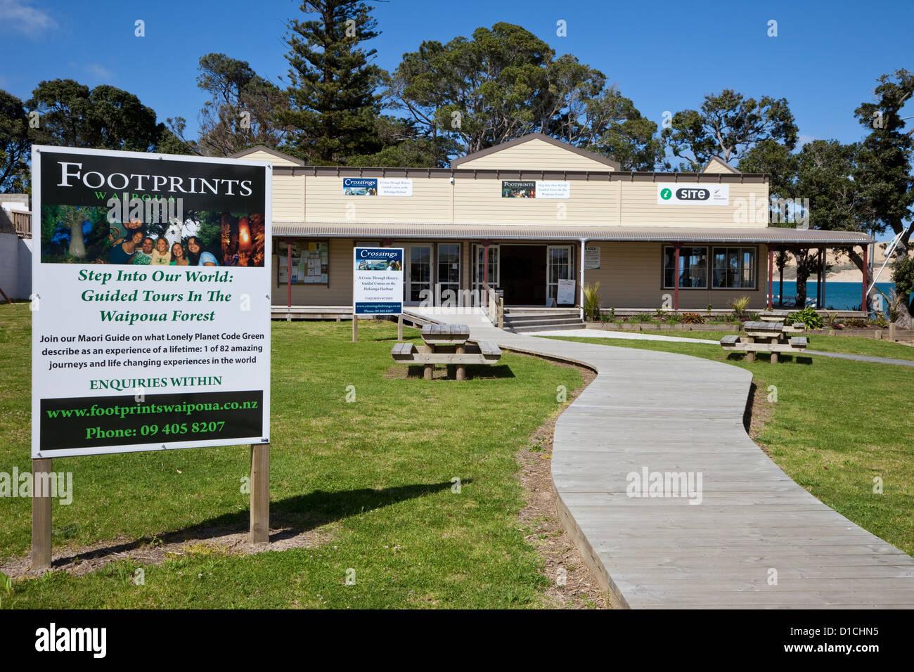 Hokianga Information Centre, Hokianga Harbour, north island, New Zealand - Stock Image