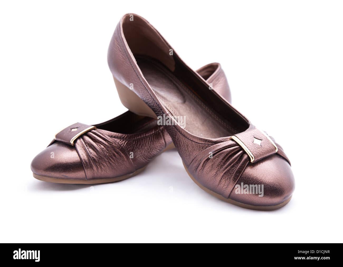 566fdbeb female dress shoes on white Stock Photo: 52523907 - Alamy
