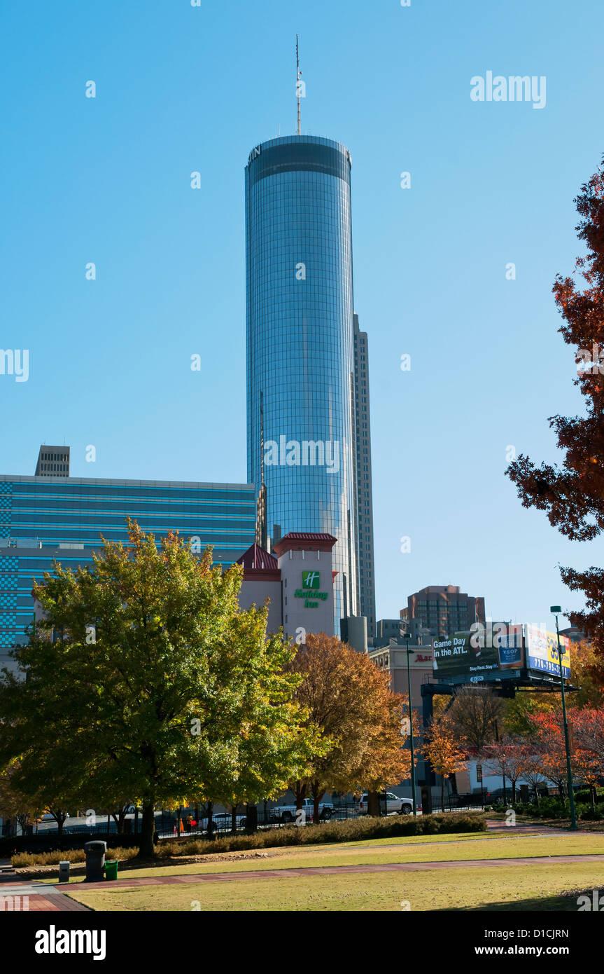Westin Peachtree Plaza, Atlanta's fifth-tallest building, Atlanta, Geogia, USA - Stock Image