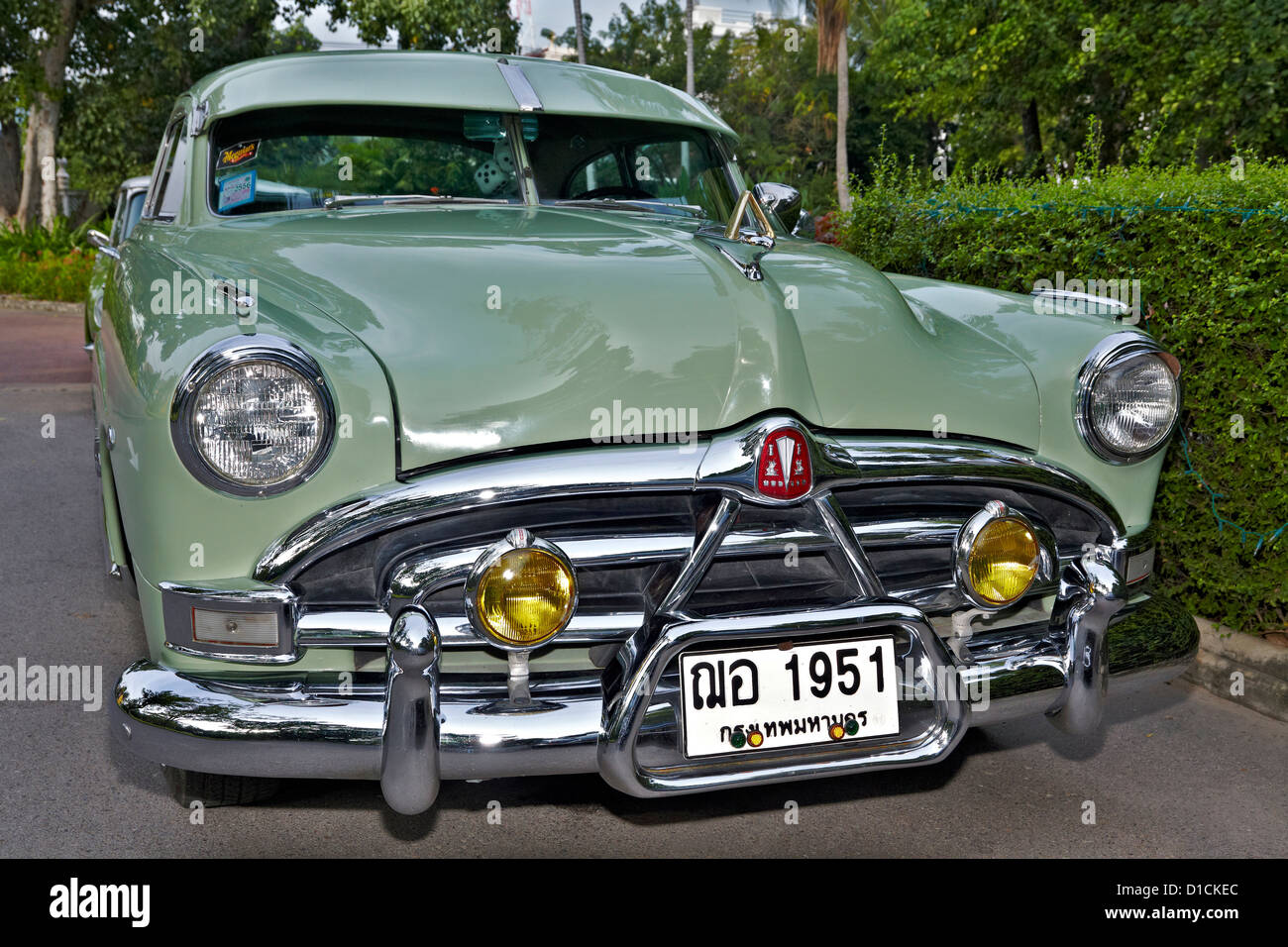 1951 Hudson Hornet American Vintage Car Front View Appropriate