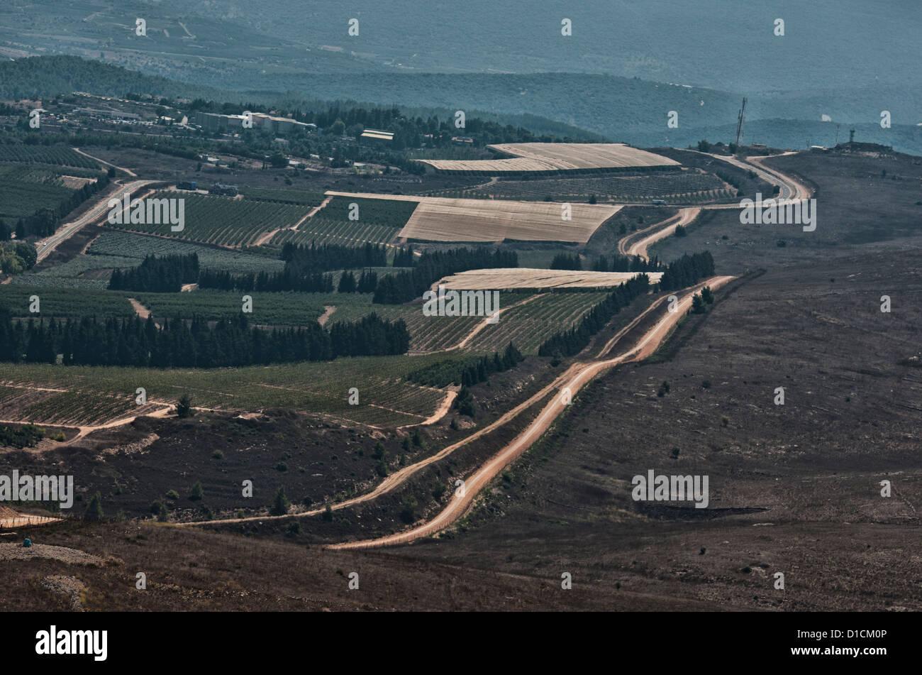Maroun Al-Ras, South Lebanon, border across Lebanon and Palestine-Israel - Stock Image