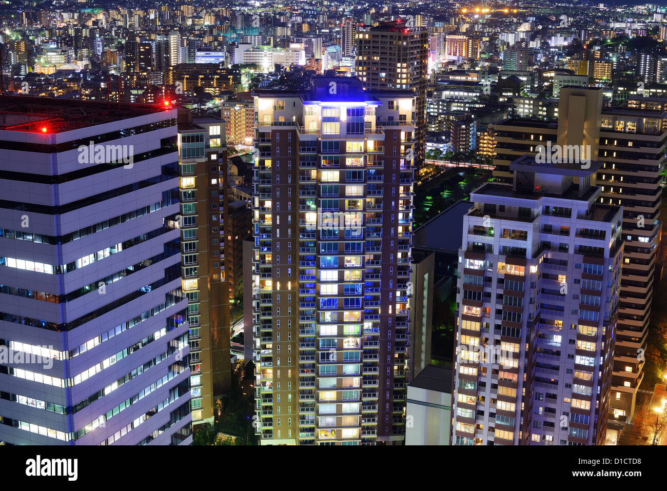 Cityscape of Fukuoka, Japan. - Stock Image