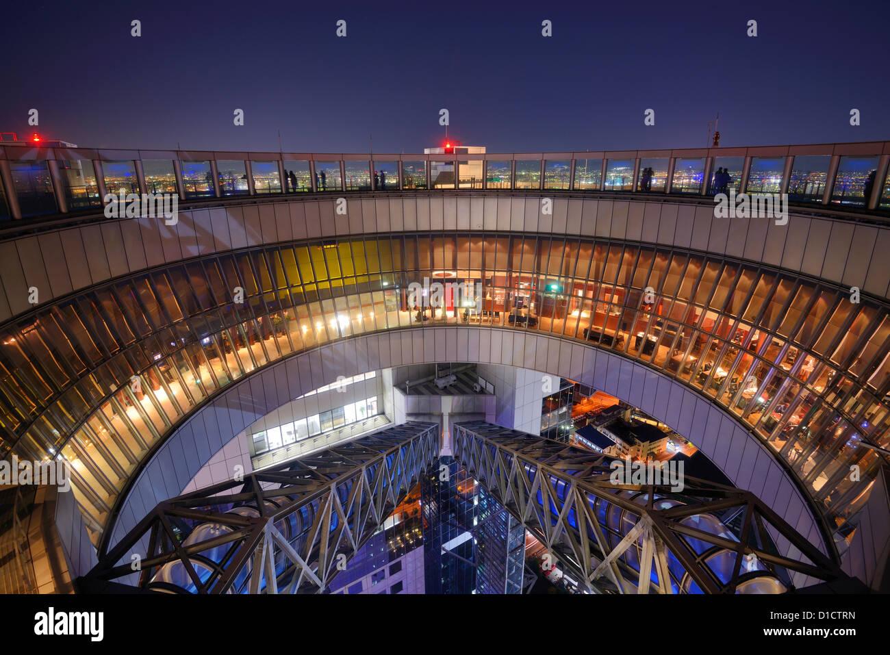 Observation deck on Umeda Sky Building in Osaka, Japan. - Stock Image