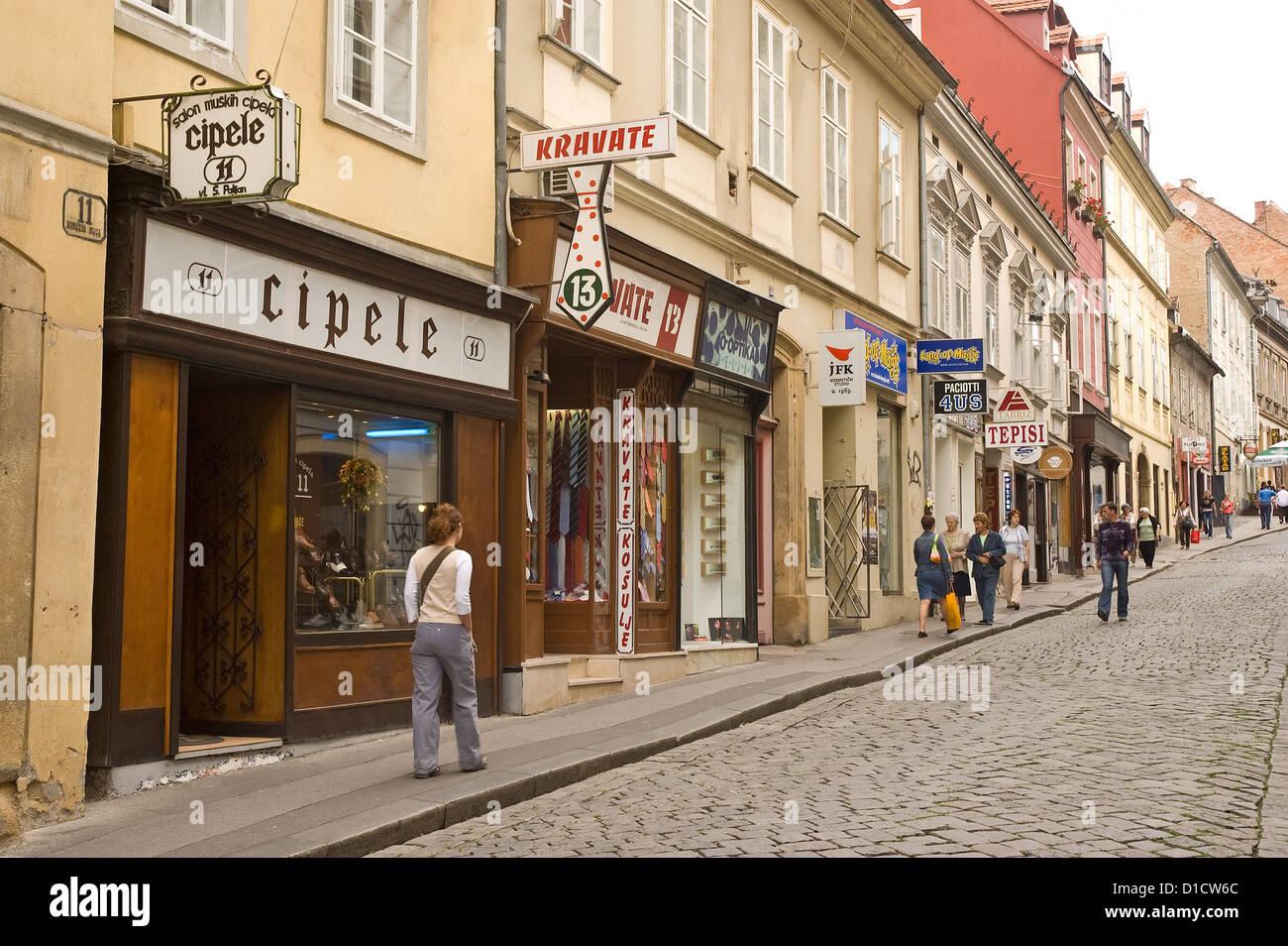 Elk192-1099 Croatia, Zagreb, Opatovina, pedestrian street - Stock Image