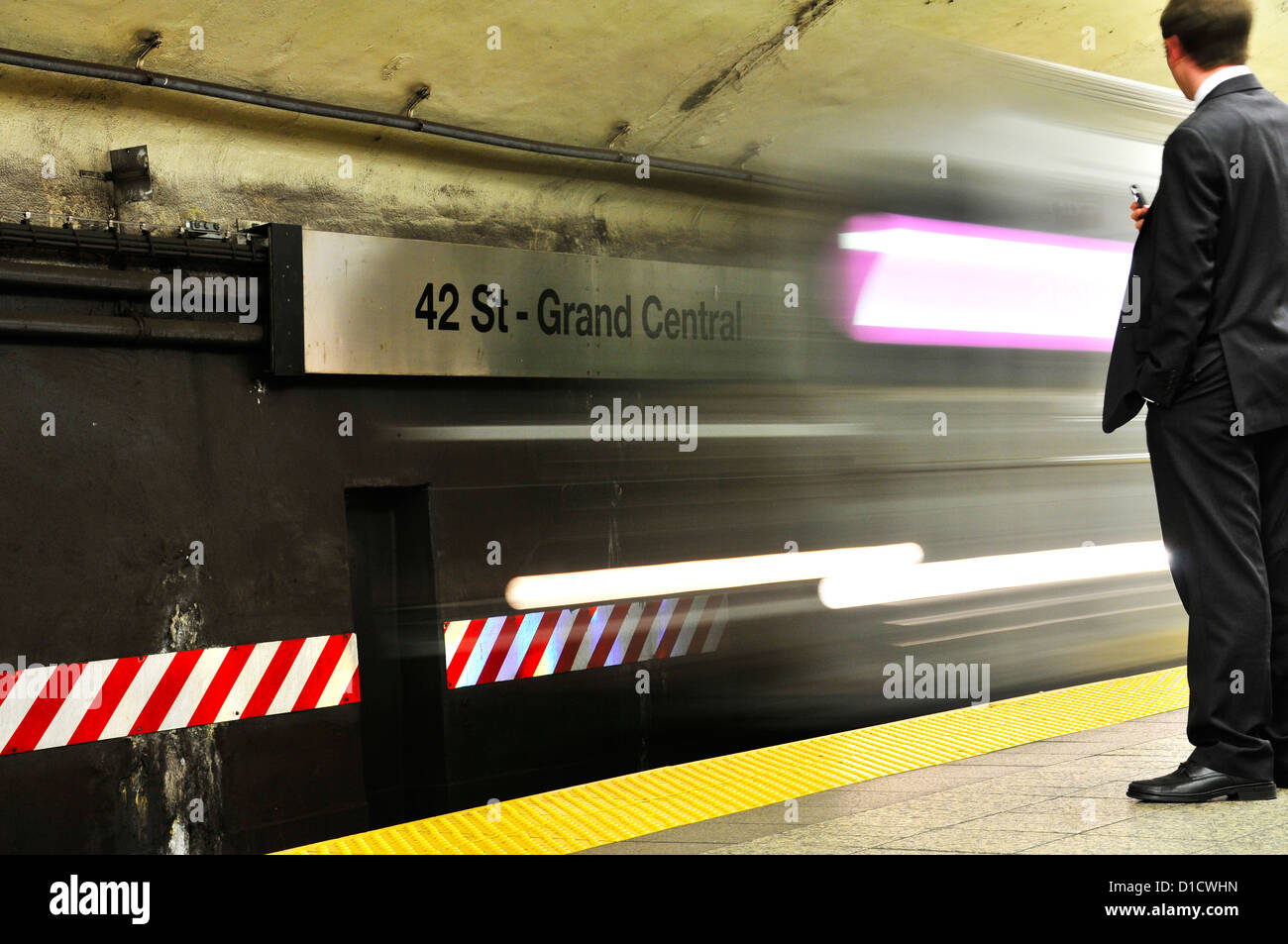 42 nd Street, Grand Central Terminal, Numer 7 Subway, Manhattan, New York City, USA - Stock Image