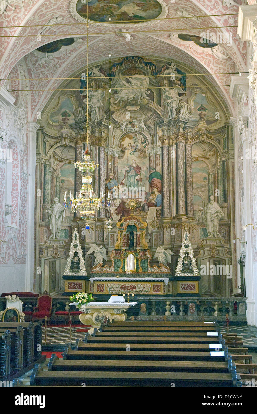 Elk192-1191v Croatia, Zagreb, Jesuit Church of St Catherine 1620-23 - Stock Image