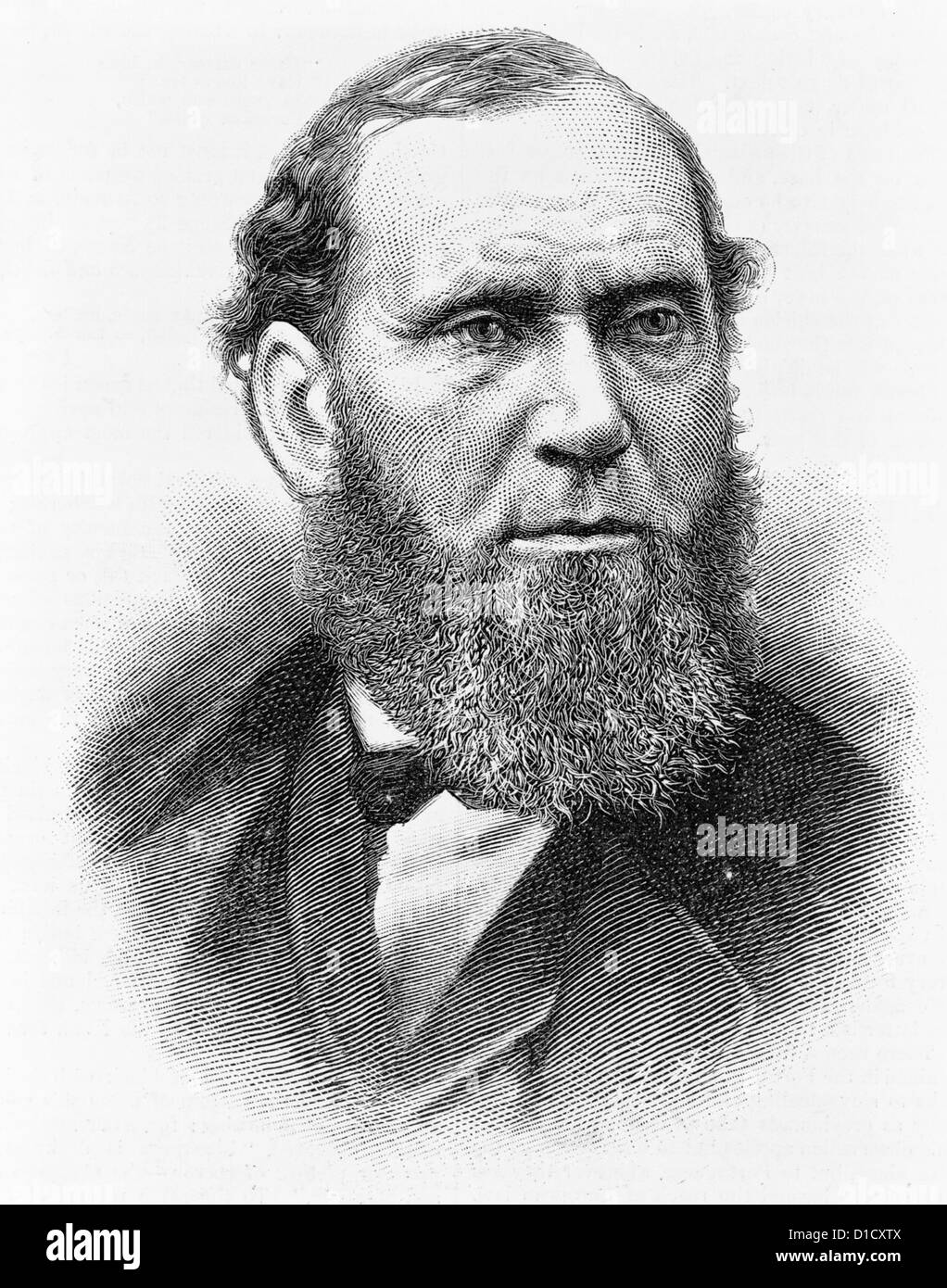 Allan Pinkerton, head-and-shoulders portrait, facing slightly right, circa 1884 - Stock Image