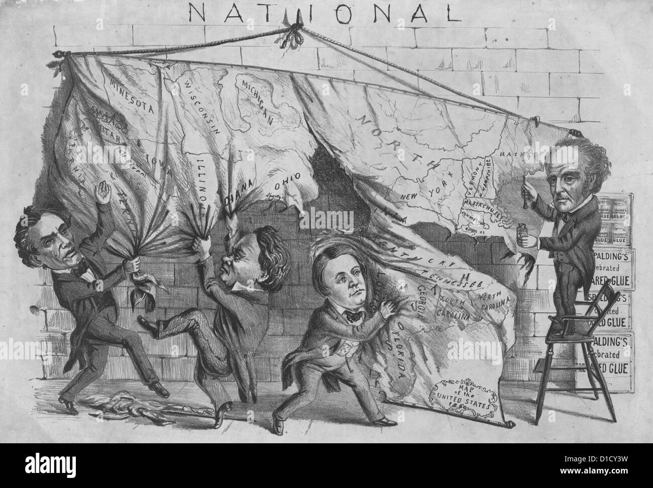 Editorial Cartoon Satirizing The 1860 Presidential Election In The