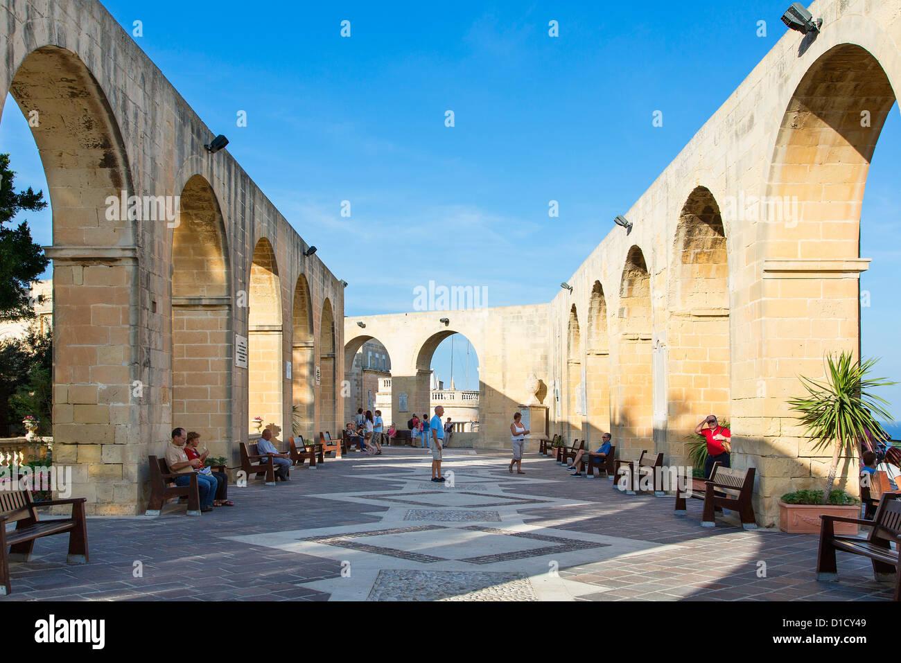 Malta, Valletta  Upper Barraca gardens - Stock Image