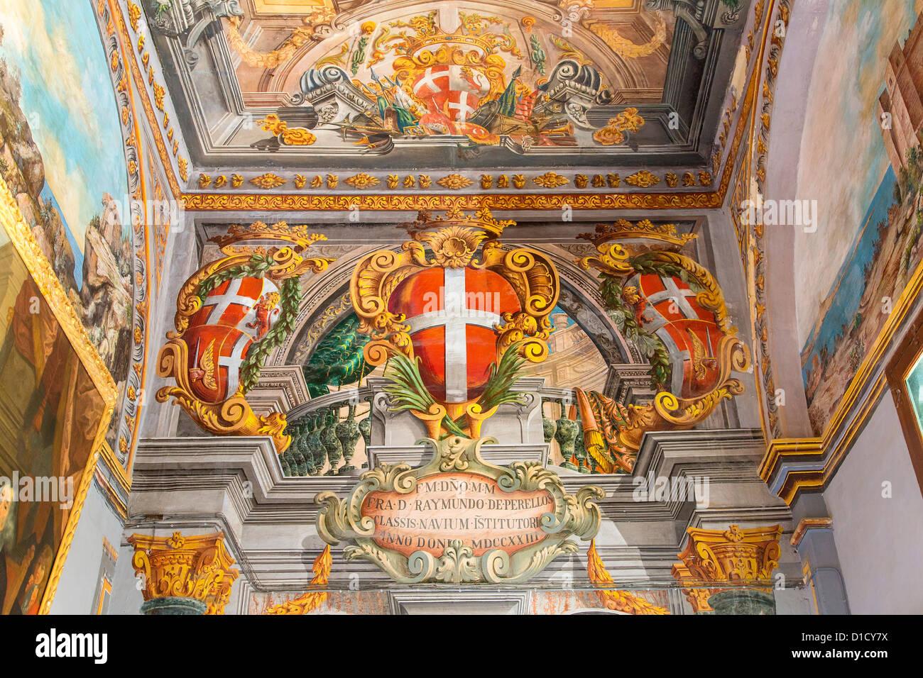Malta, Valletta, The Grandmaster's Palace Stock Photo