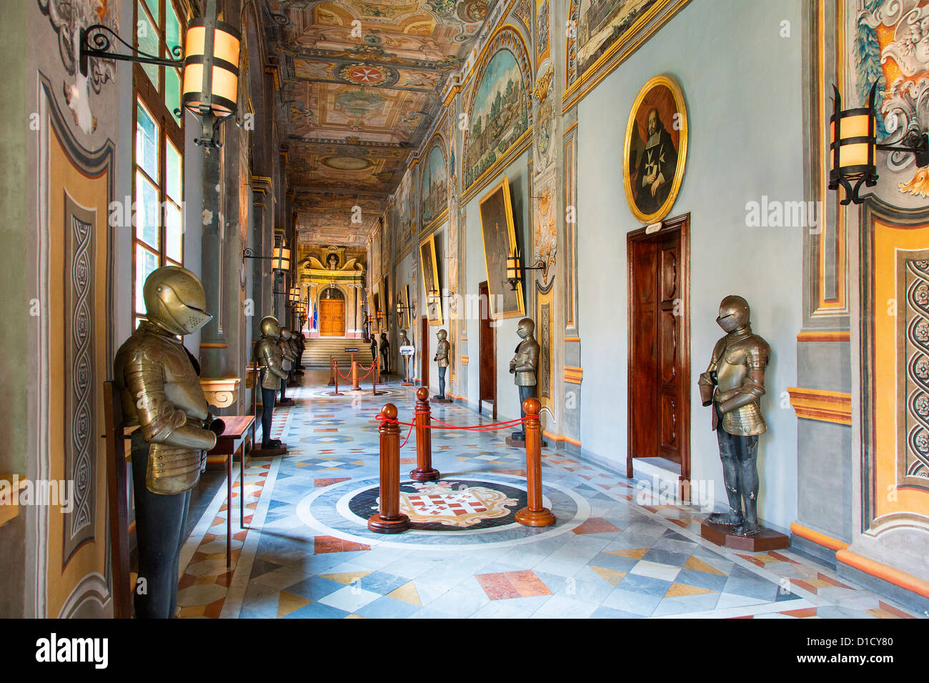 Malta, Valletta, The Grandmaster's Palace - Stock Image