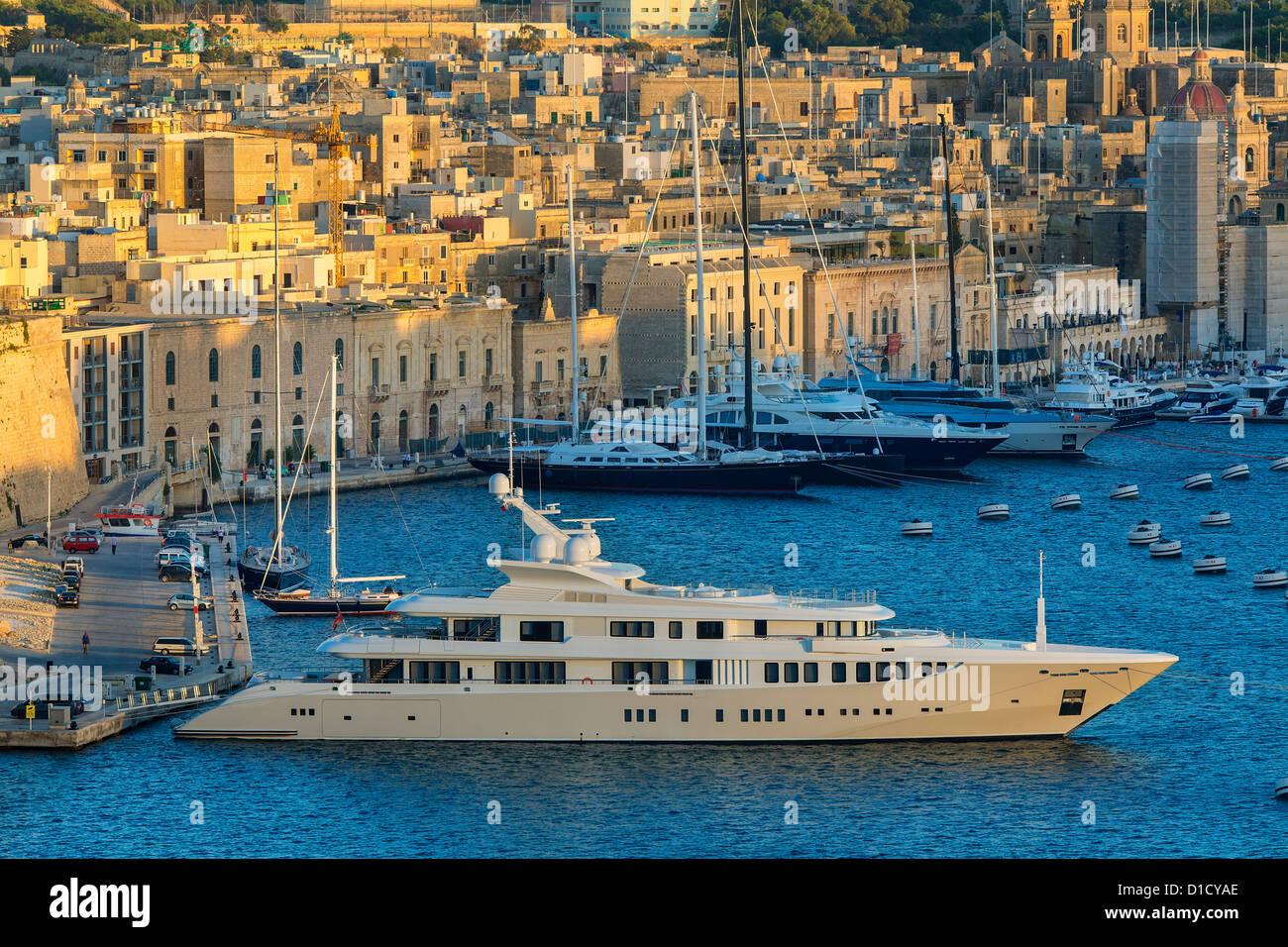 Malta, Vittoriosa, View from Valletta - Stock Image