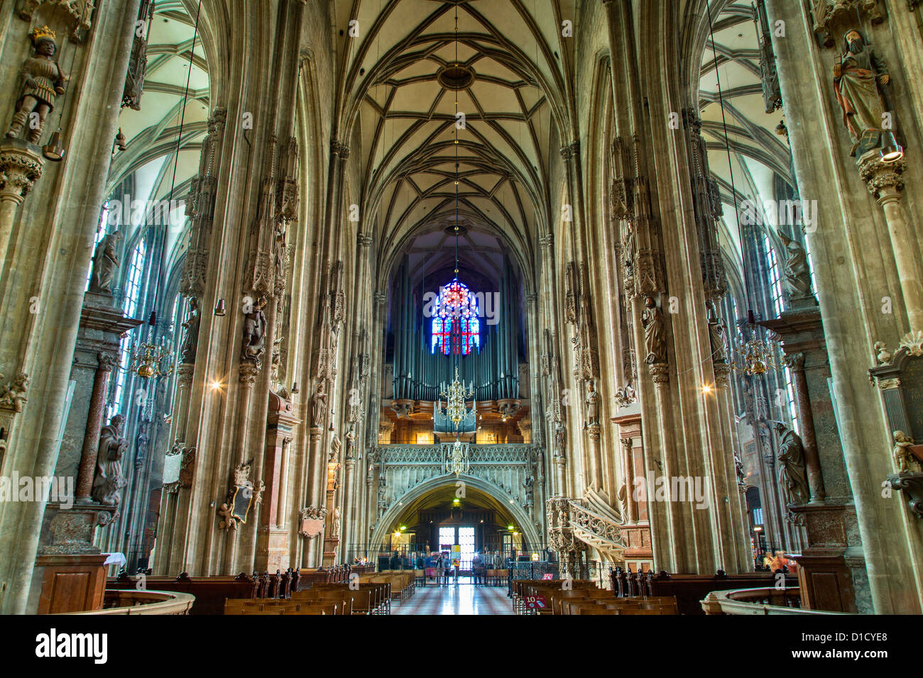 Austria, Vienna, St Stephen's Cathedral - Stock Image