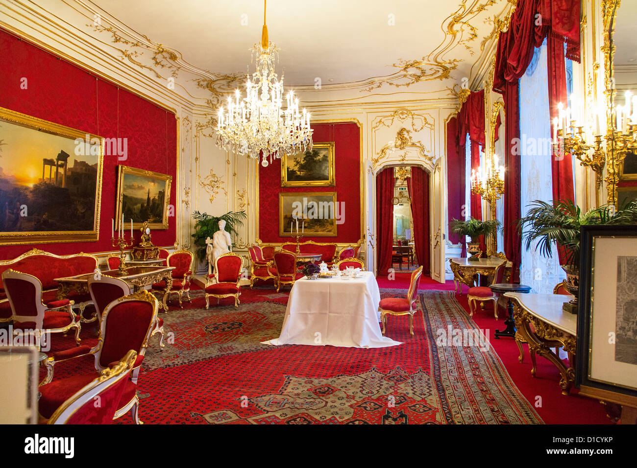 Private Royal Apartments In The Hofburg Palace, Vienna, Austria