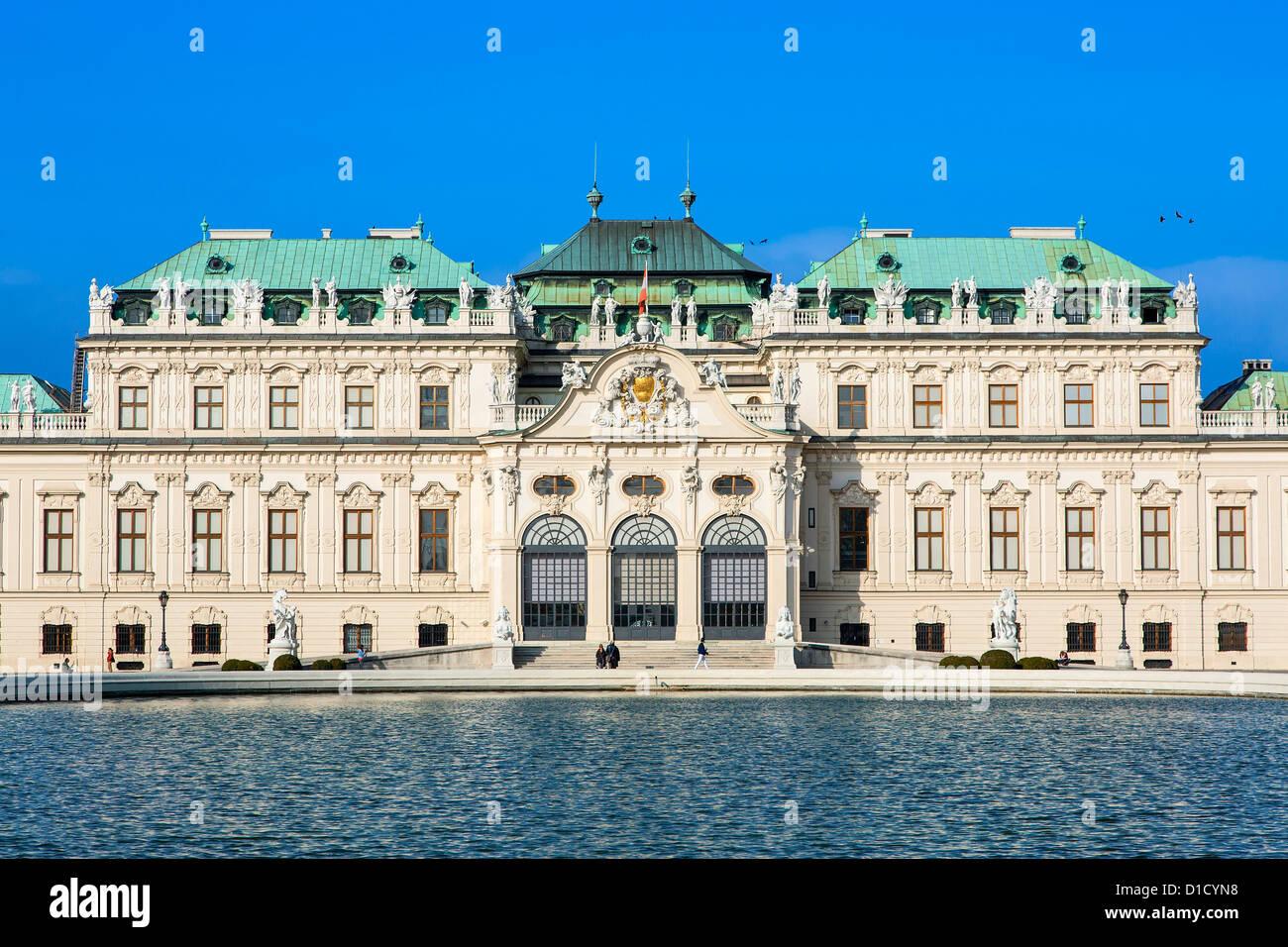 Austria, Vienna, Belvedere Palace - Stock Image