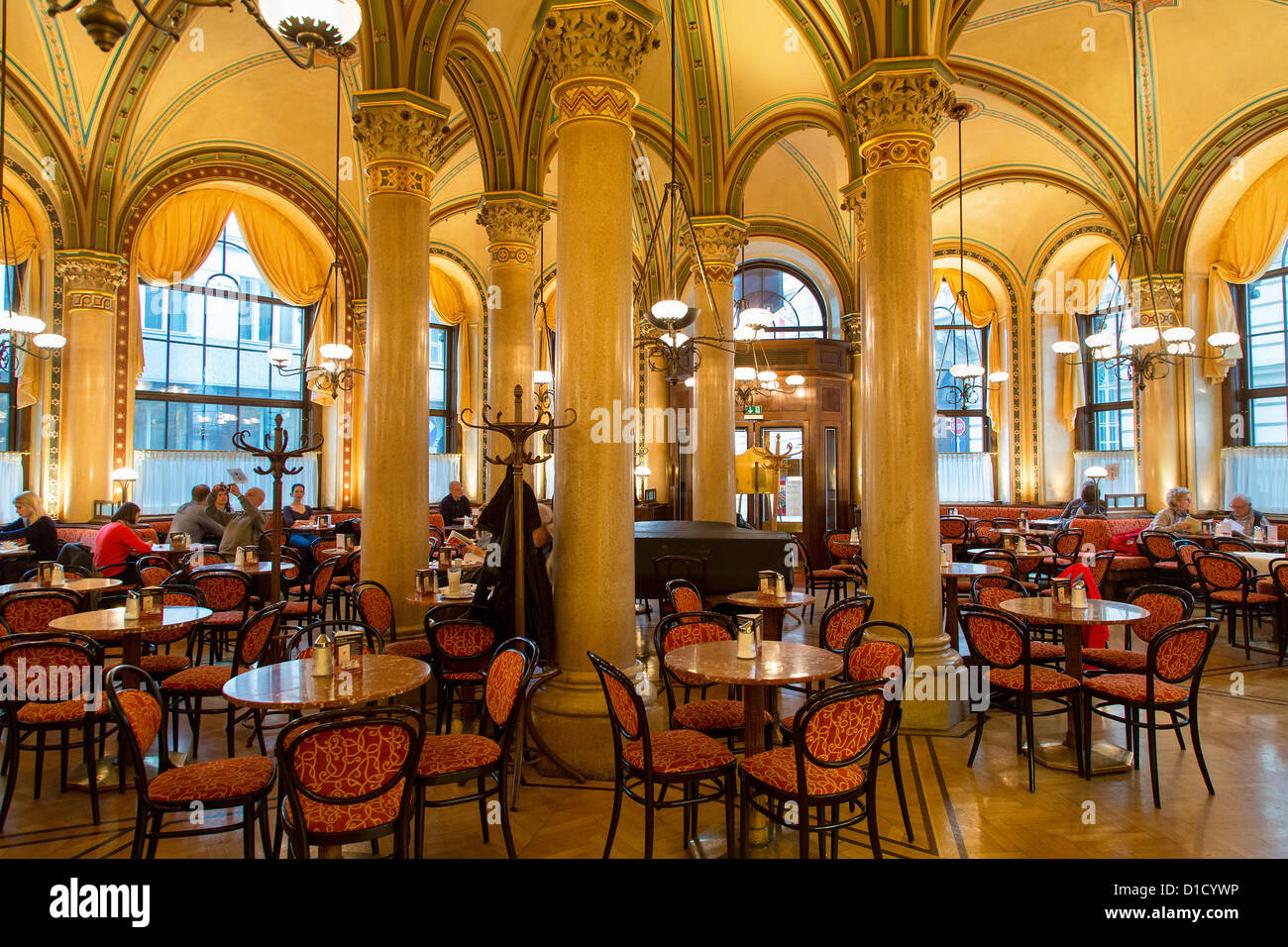 The famous Cafe Central is located in the Palais Ferstel - Stock Image