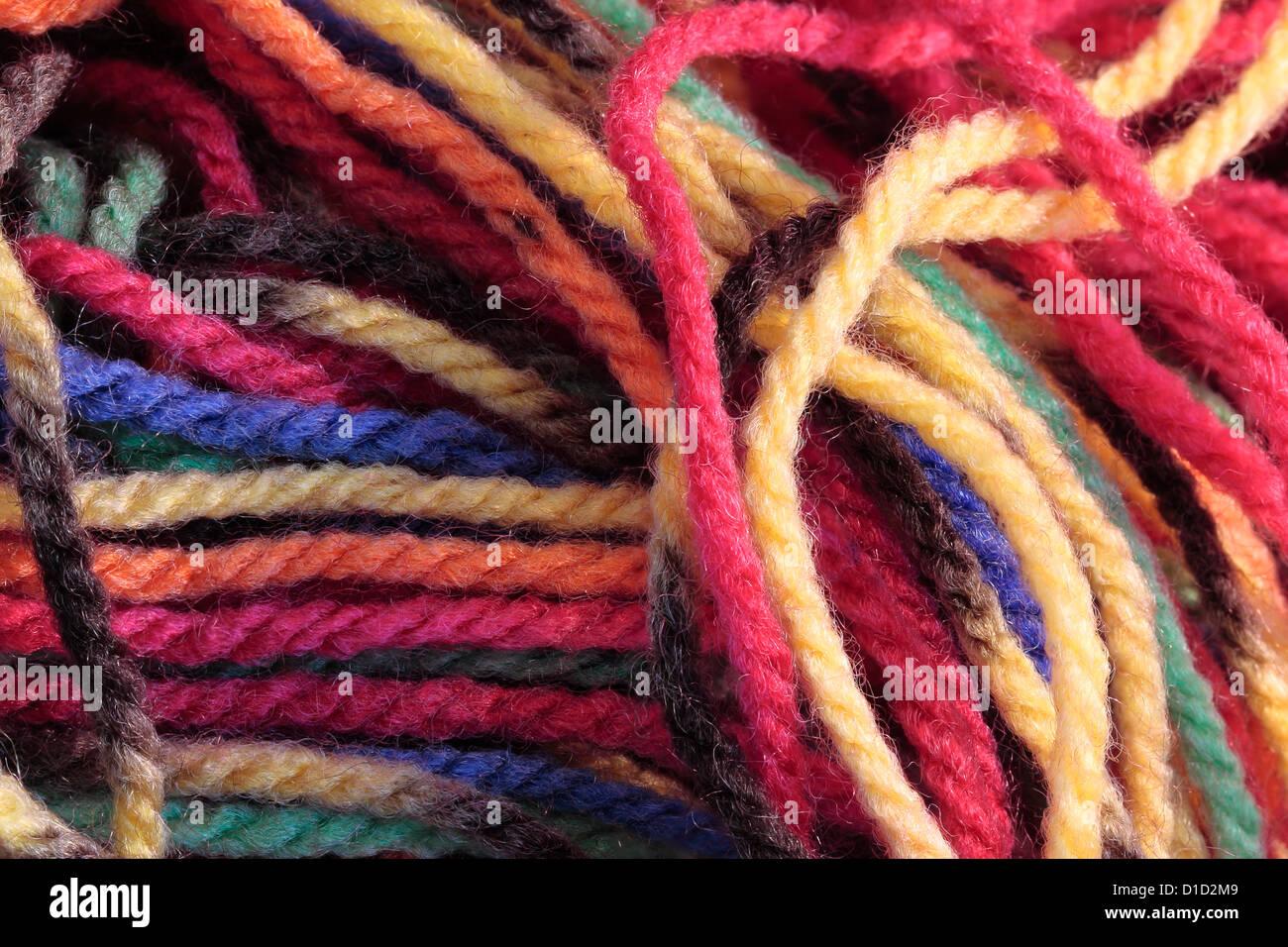 Multicoloured Wool - Stock Image