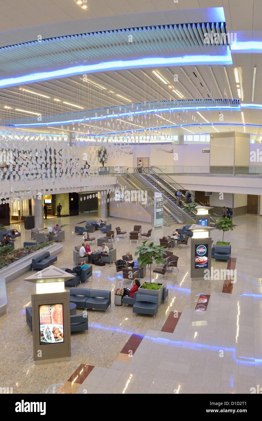 International departure lounge Hartsfield-Jackson Atlanta International Airport Atlanta Georgia USA - Stock Image