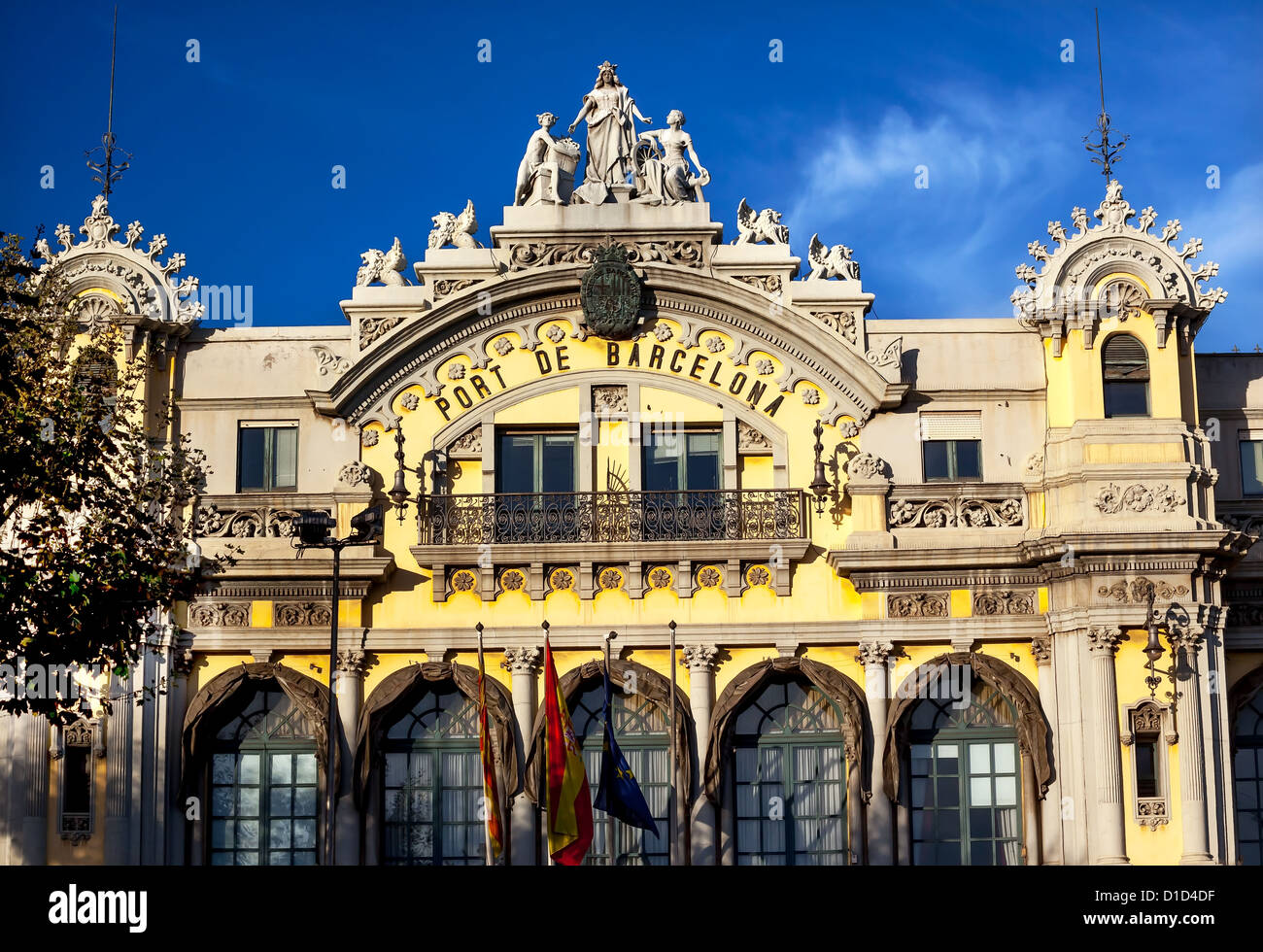 Port Authority Building of Barcelona Building in Barcelona, Spain - Stock Image