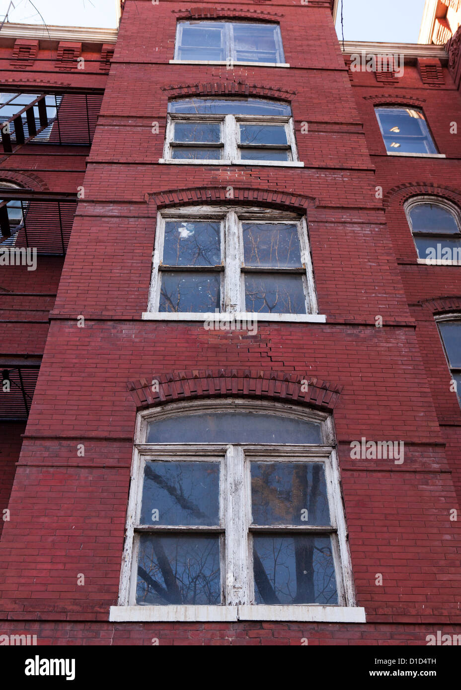 Old wood frame windows - Stock Image