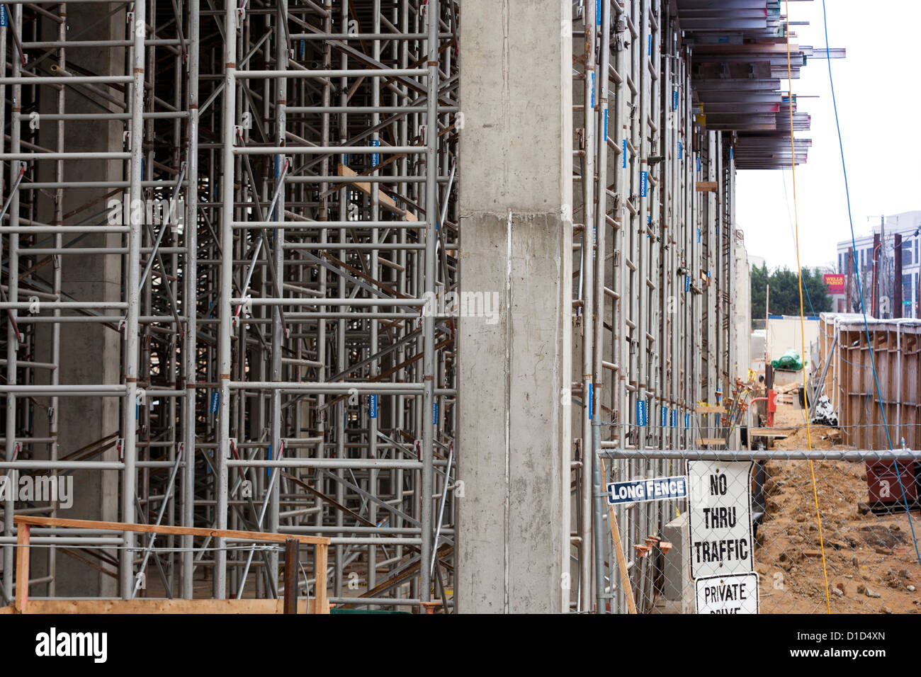 Scaffolding on construction site Stock Photo