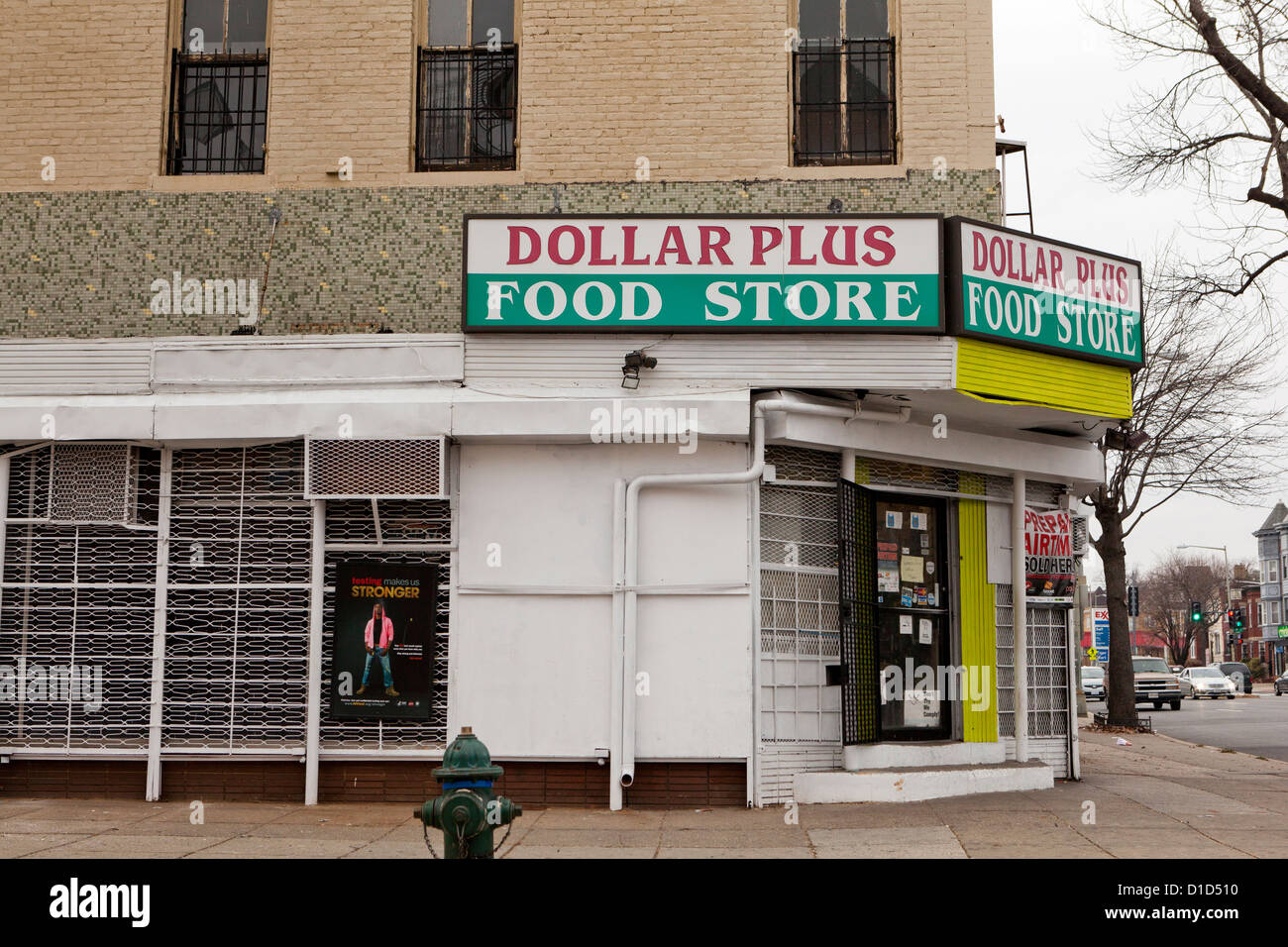 Dollar food store - Stock Image