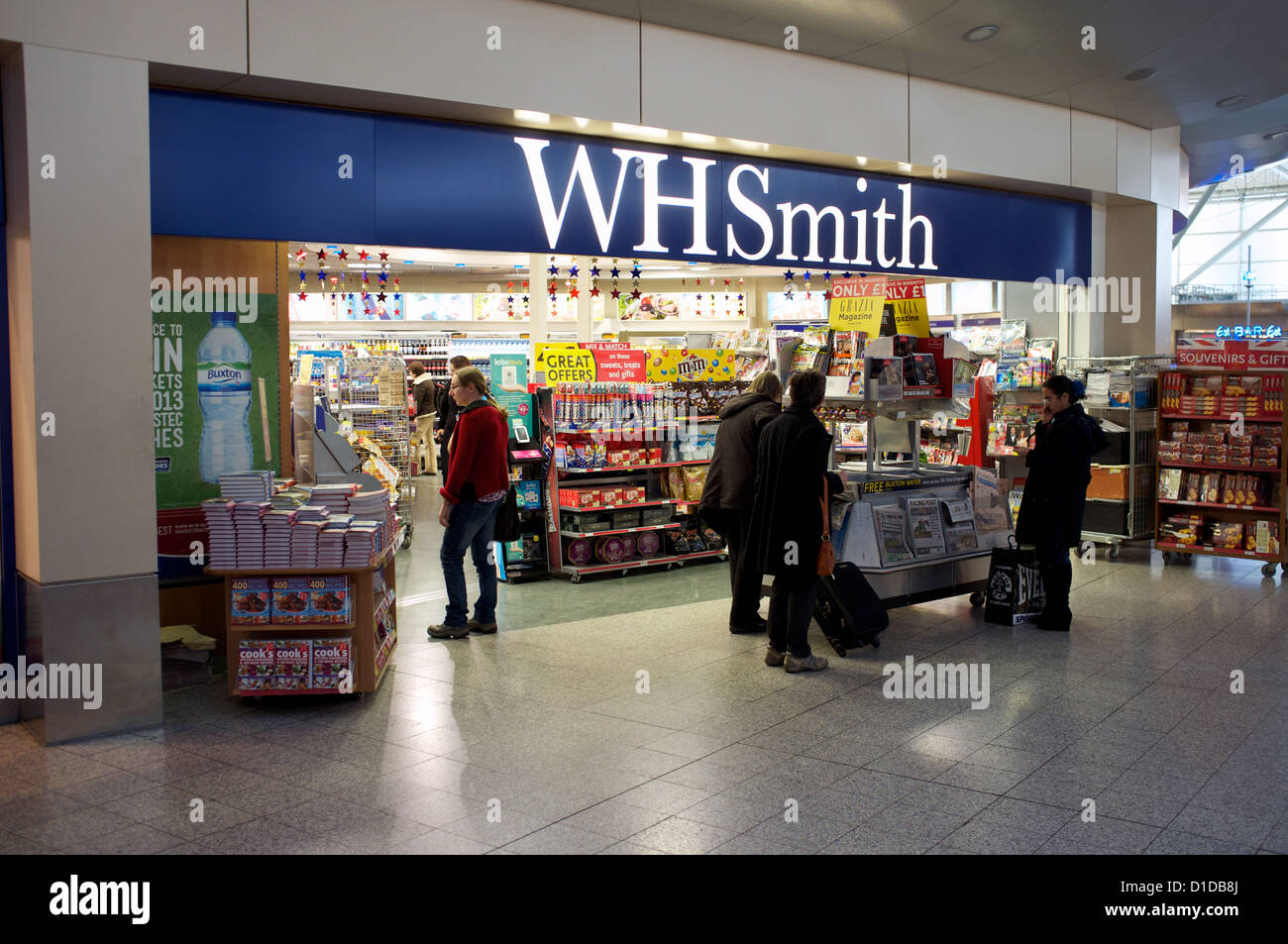 WH Smith, Stansted Airport - Stock Image