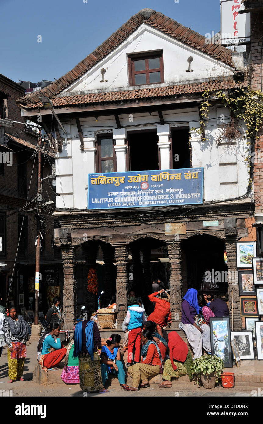 Lalitpur Chamber of Commerce & Industry Durbar square Bhimsensthan Lalitpur Nepal - Stock Image