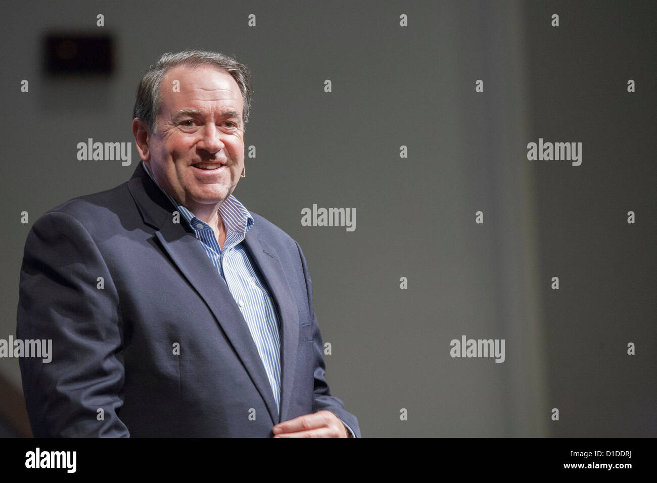Mike Huckabee at a speaking engagement in Ocala, Florida - Stock Image