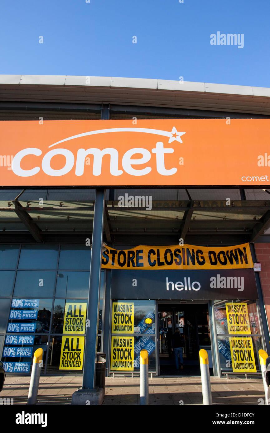 Comet, Catford, South East London, England, UK 17 12 2012