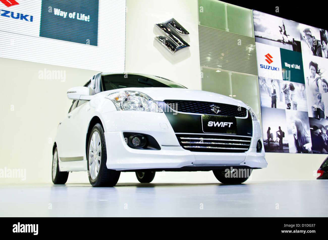 The Suzuki Swift Car On Display At The 29th Thailand International